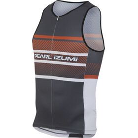 PEARL iZUMi ELITE In-R-Cool LTD Tri Top Men stripes red orange